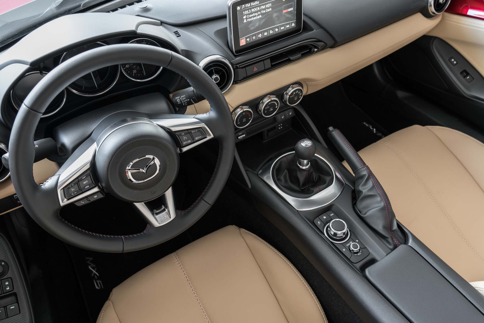 2017 mazda mx 5 miata rf interior view motor trend en espa ol. Black Bedroom Furniture Sets. Home Design Ideas