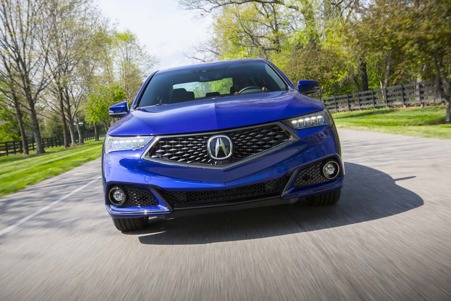 2018 Acura TLX SH AWD A Spec Frontt End In Motion 06 E1495042072635