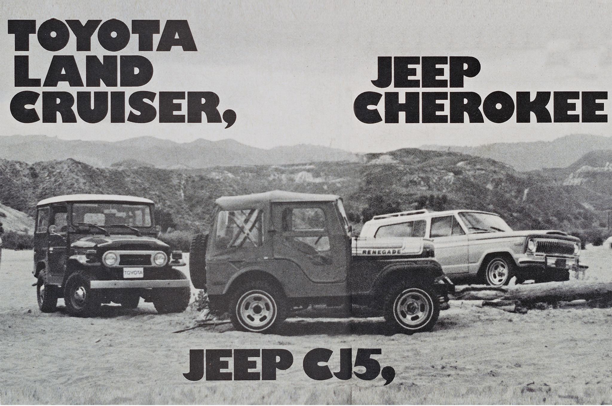 Jeep Cherokee Vs Toyota Land Cruiser Vs Jeep CJ5