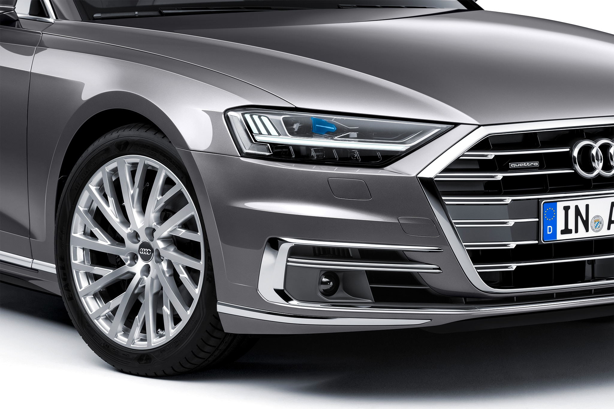 2019 Audi A8 L Headlight And Grille Motor Trend En Español