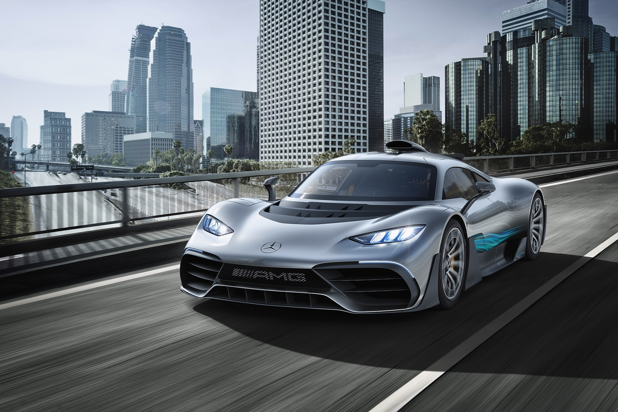 Mercedes AMG Project ONE Front Three Quarter In Motion 01