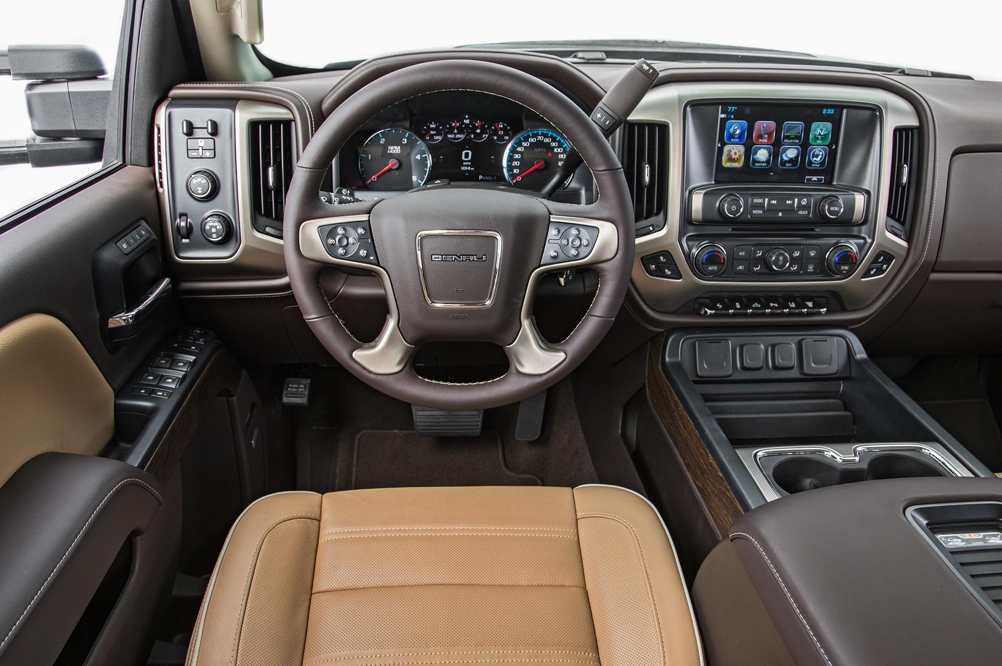 2018 Gmc Sierra Denali Hd Duramax Dashboard Motor Trend