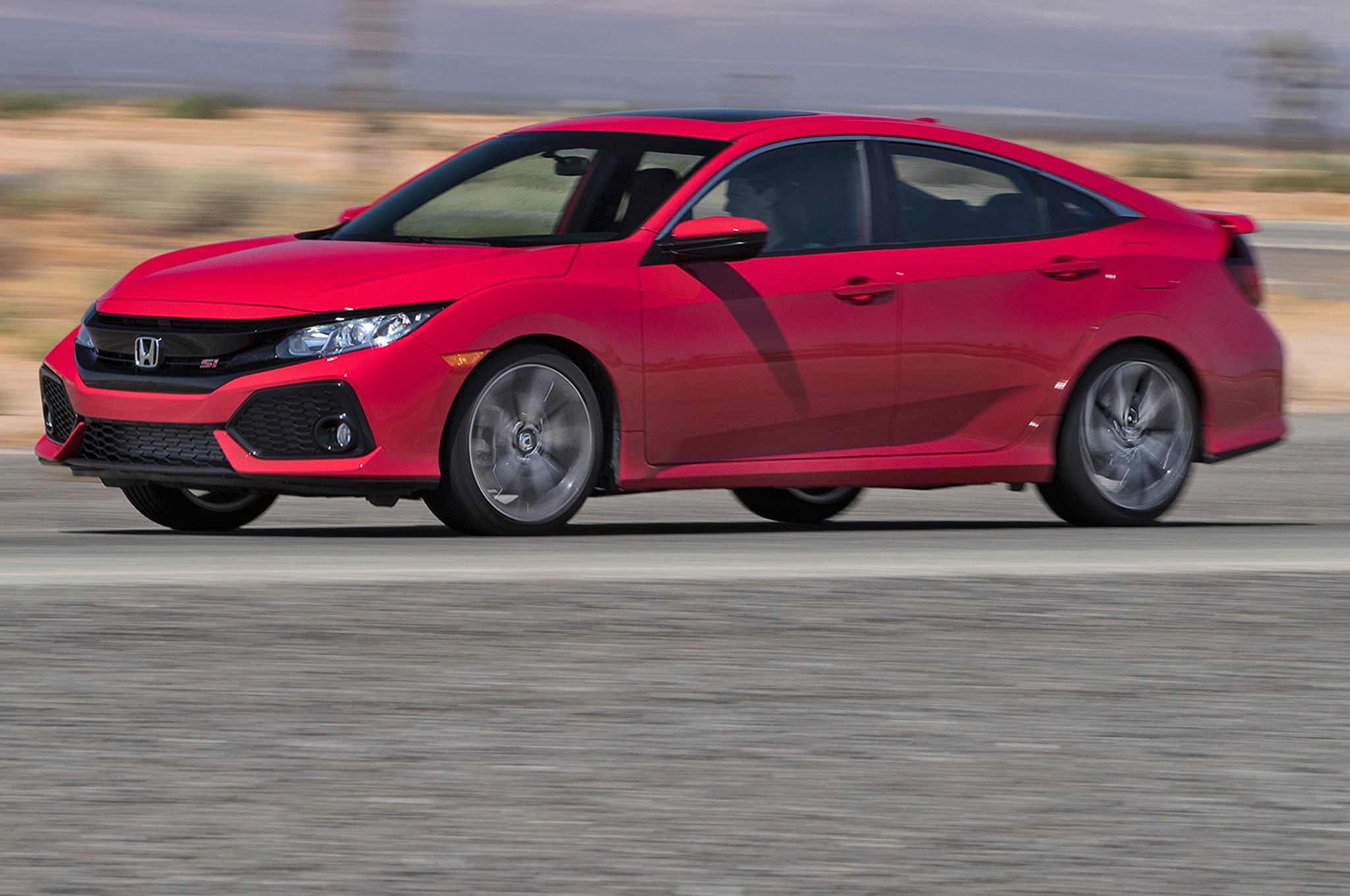 2017 Honda Civic Si Side In Motion 00