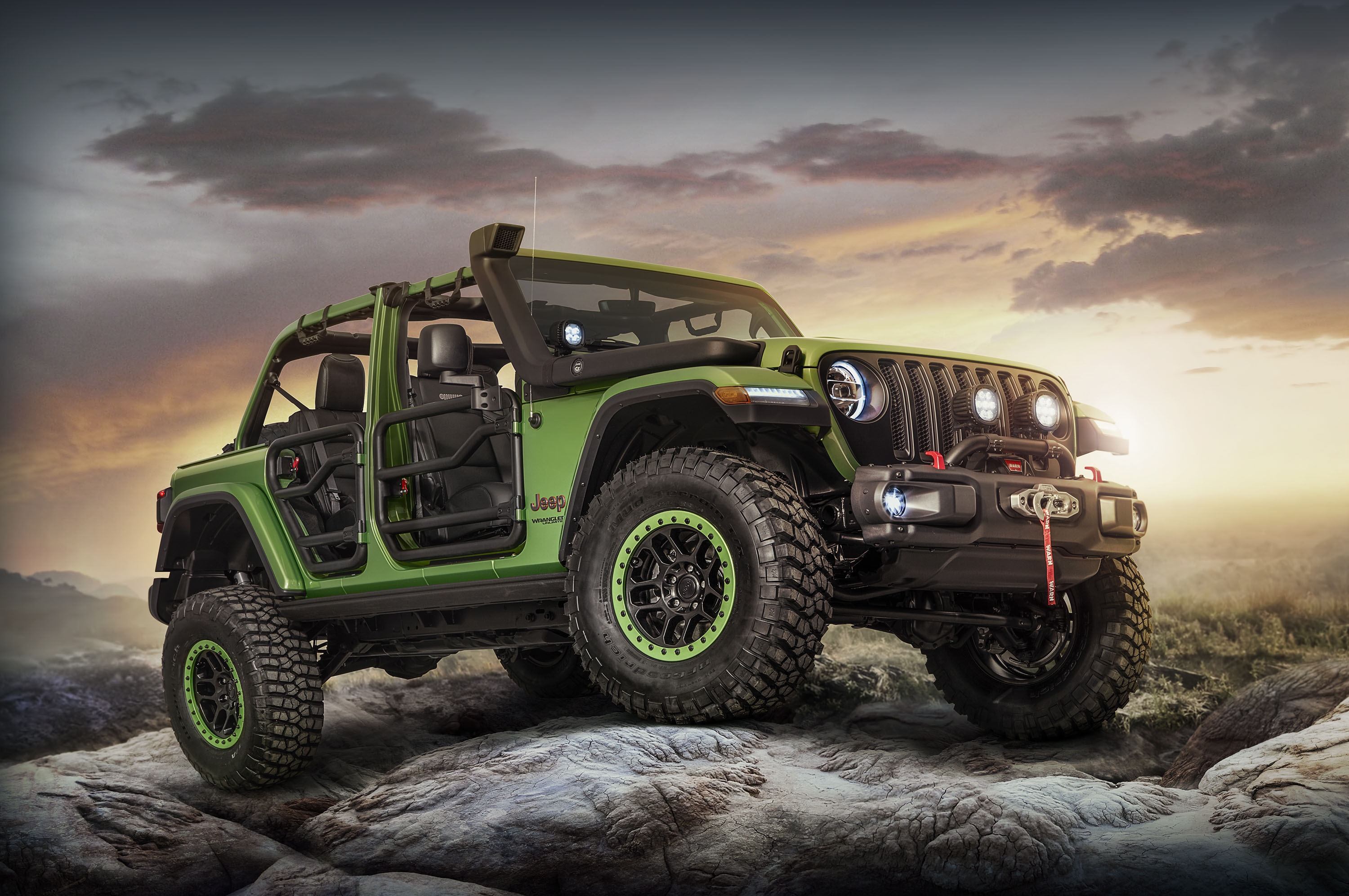 2018 Jeep Wrangler Rubicon Mopar Accessories Front Three Quarterjpg