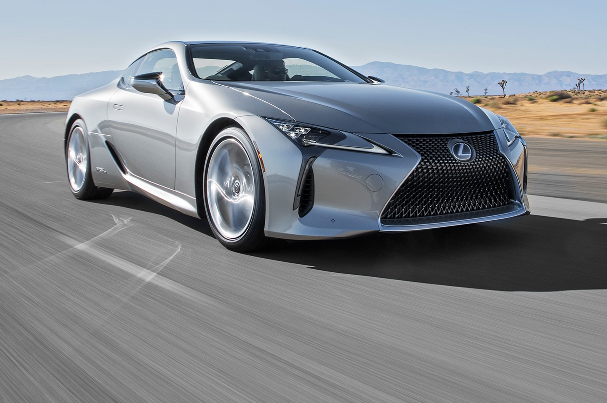 2018 Lexus LC 500h Front Three Quarter In Motion 00