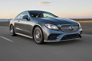 9fc57c256aa58b 2018 Mercedes Benz E400 Front Three Quater In Motion 02