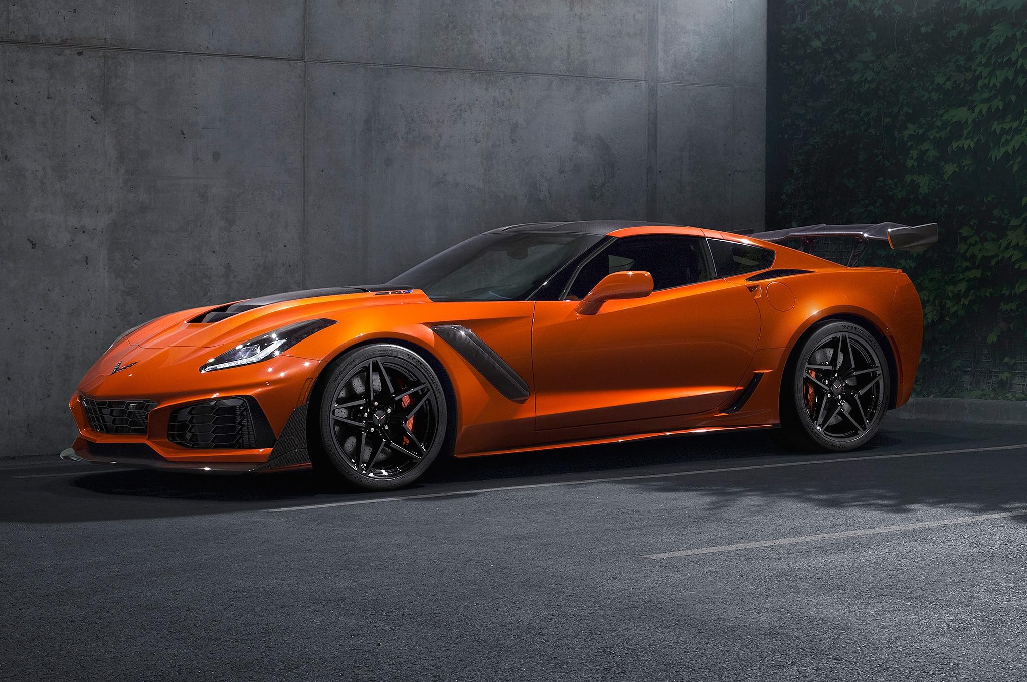 2019 Chevrolet Corvette ZR1 Front Three Quarter Sebring Orange