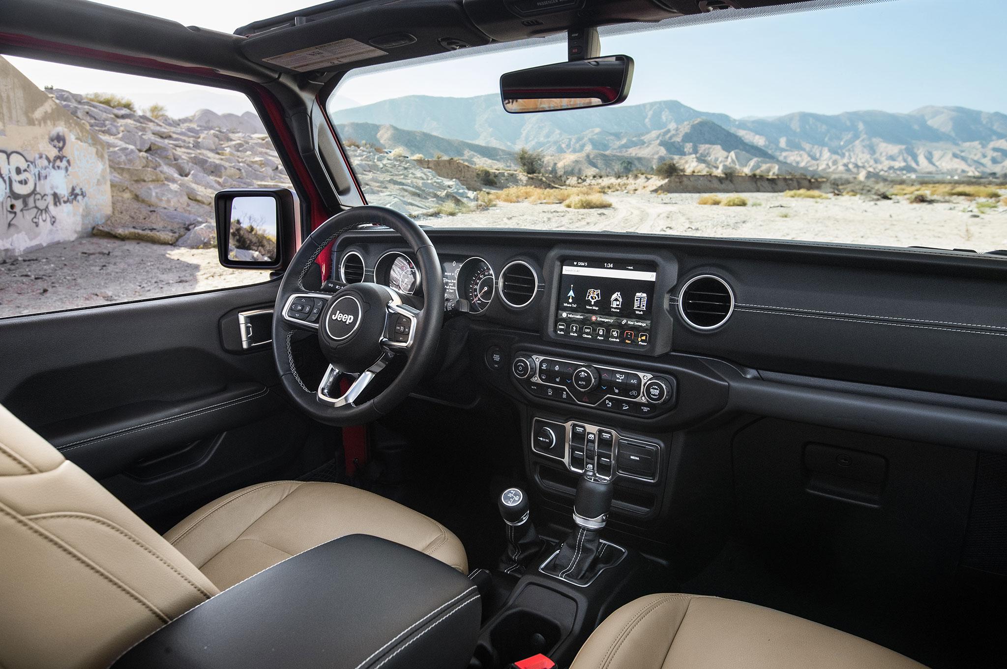 Jeep Wrangler Interior >> 2018 Jeep Wrangler Sahara Unlimited Interior From Passenger Seat