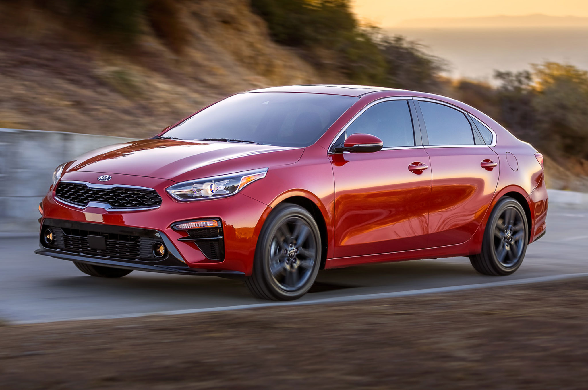2019 Kia Forte Front Side Motion View On Road