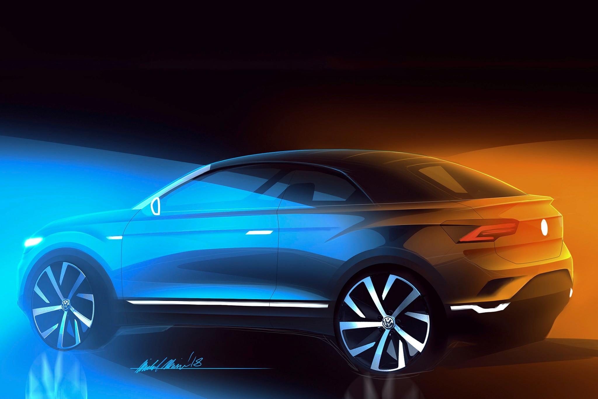 Volkswagen T Roc Cabriolet Sketch