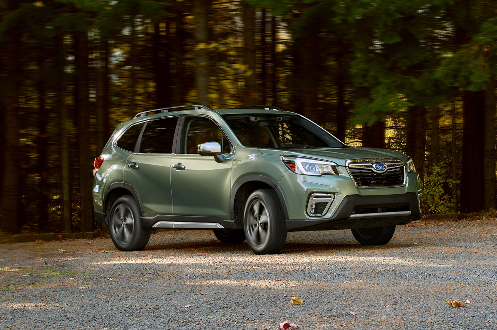 2019 Subaru Forester Front Three Quarter In Motion 04