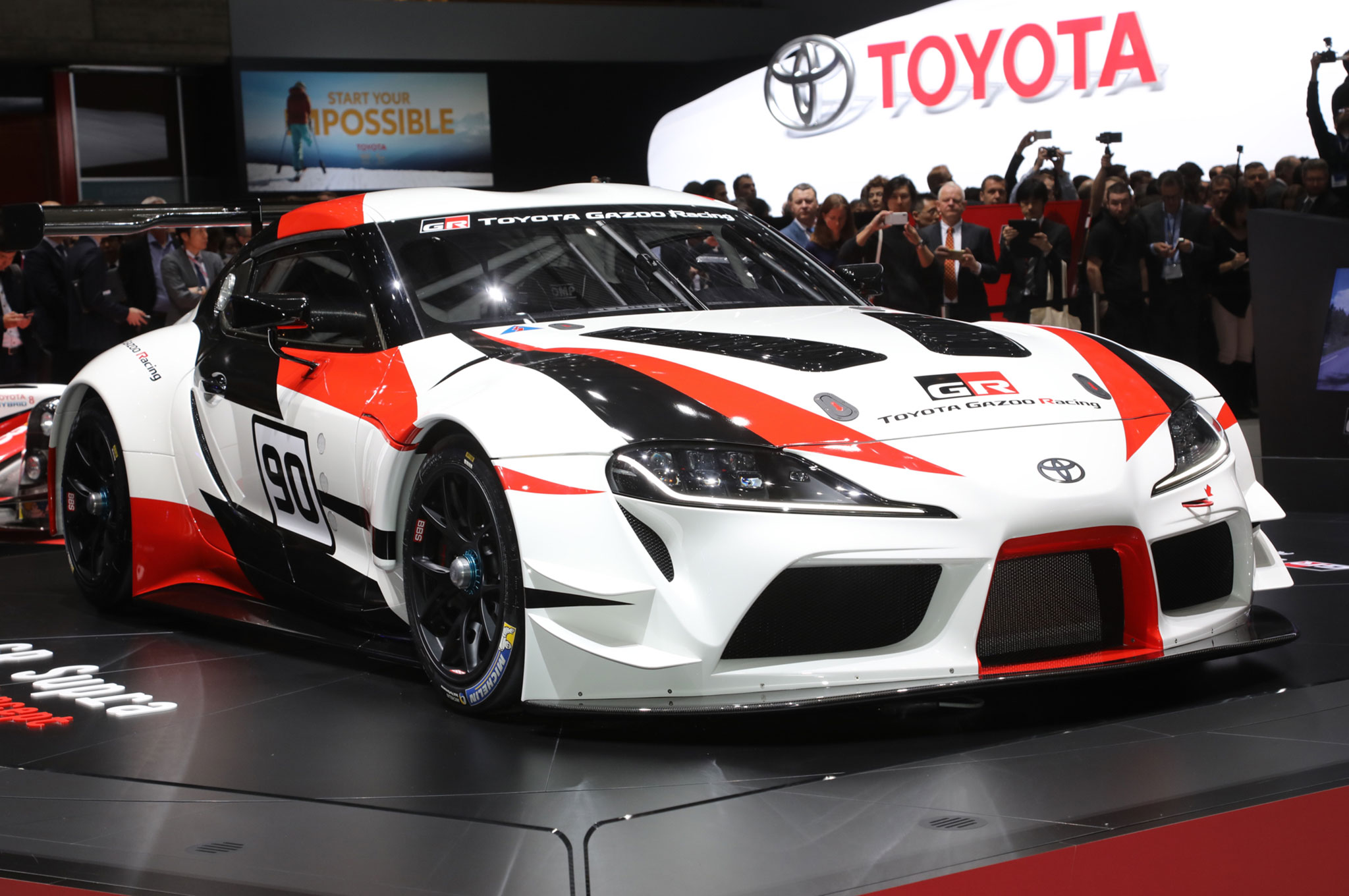 Toyota GR Supra Racing Concept Front Side View On Stage