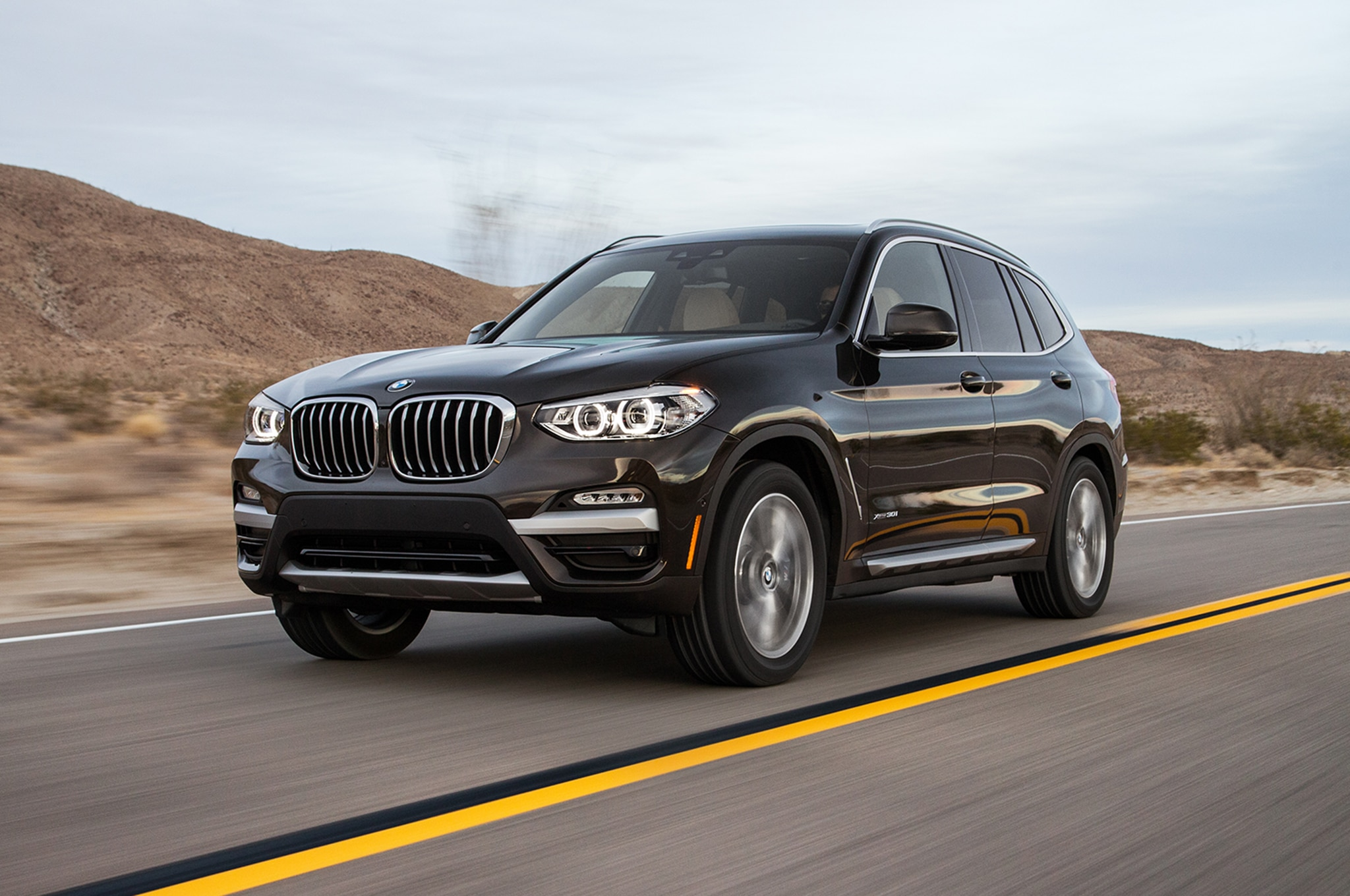 2018 BMW X3 Front Three Quarter In Motion 02