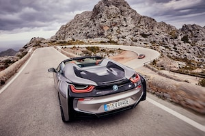 2019 BMW I8 Roadster Rear Three Quarter In Motion