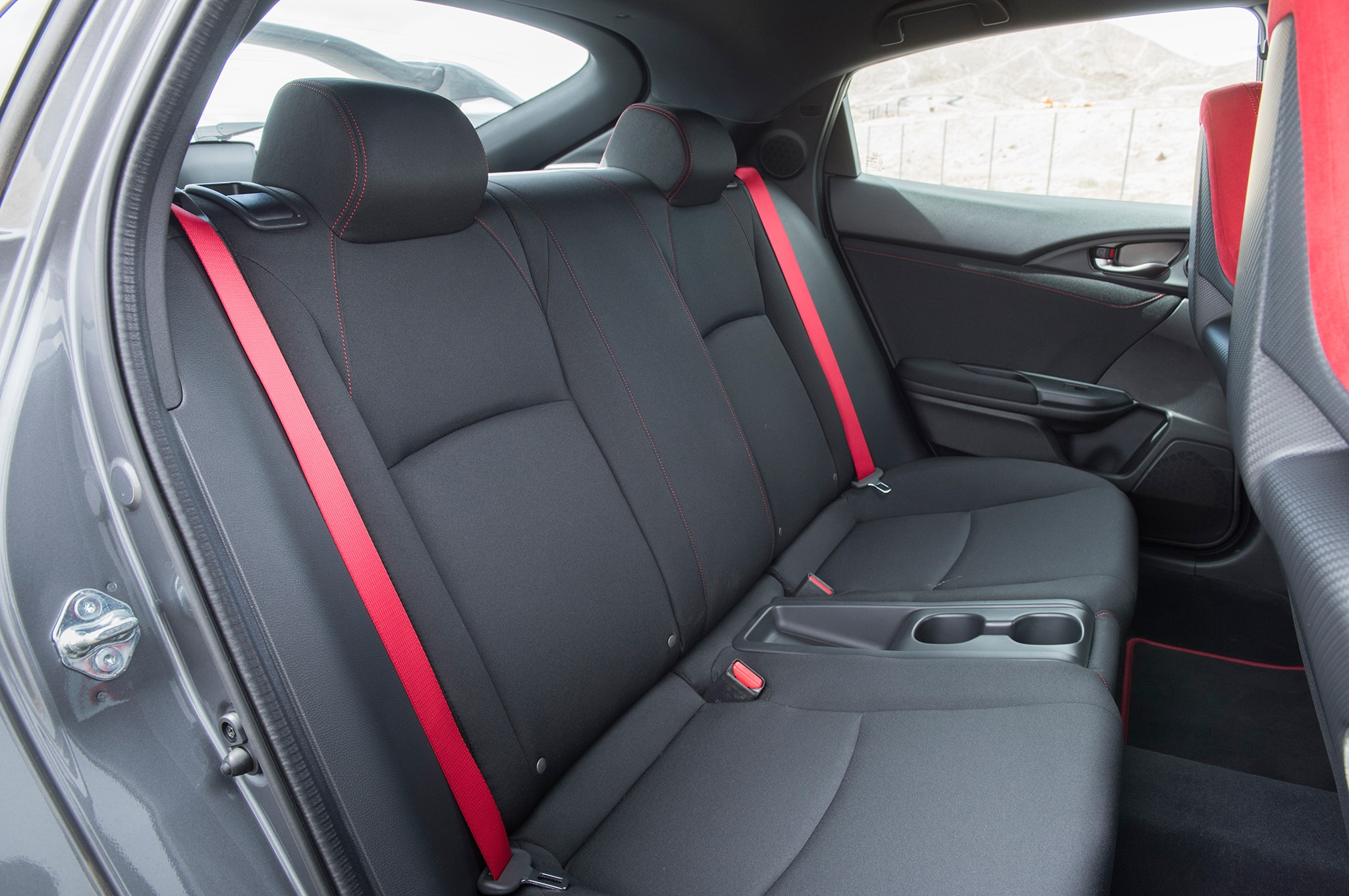2018 Honda Civic Type R Interior Rear Seats Motor Trend