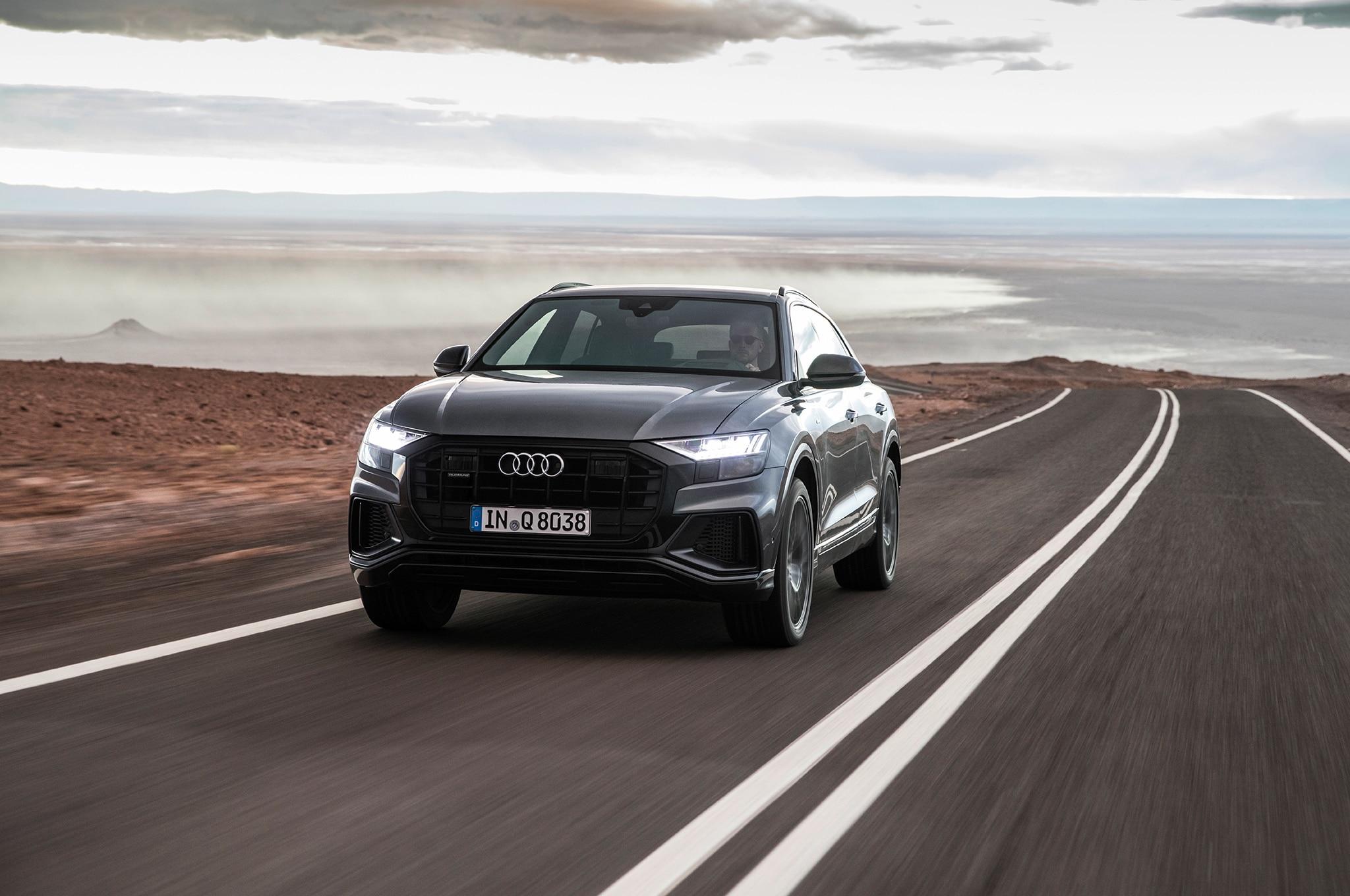 2019 Audi Q8 Front Three Quarter In Motion 00