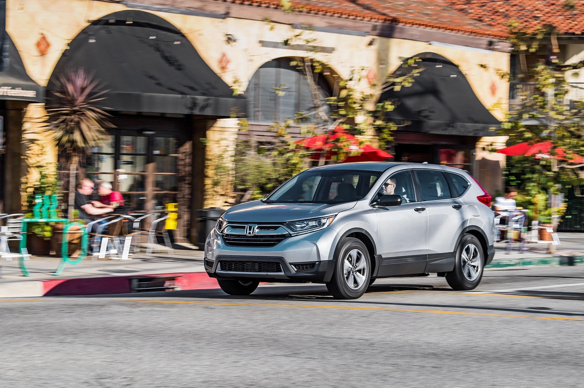 2018 Honda CR V LX Front Three Quarter In Motion 8