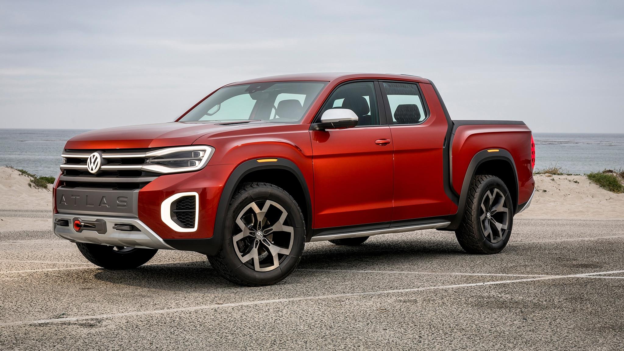 Volkswagen Atlas Tanoak Truck Concept Front Three Quarter 3