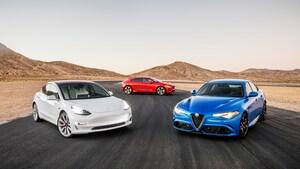 2019 Alfa Romeo Giulia Quadrifoglio 2019 Jaguar I Pace EV400 HSE 2018 Tesla Model 3 Dual Motor Performance 5