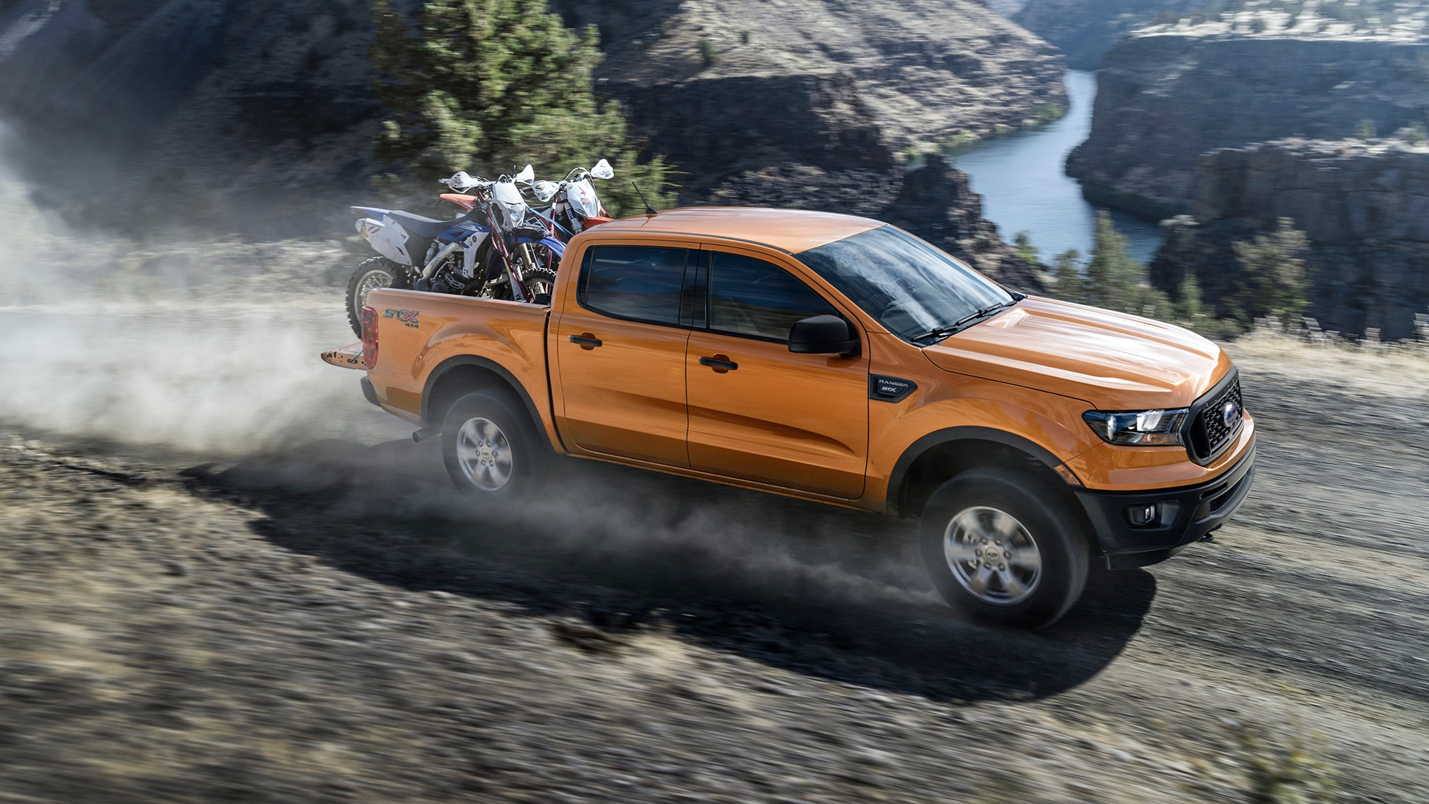 2019 Ford Ranger Front Three Quarter In Motion