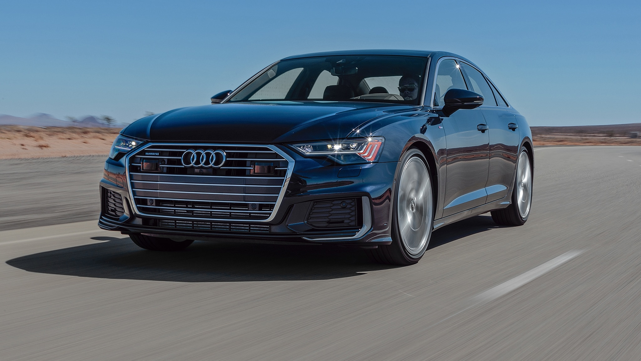 2019 Audi A6 3 0T Quattro Front Three Quarter In Motion 2