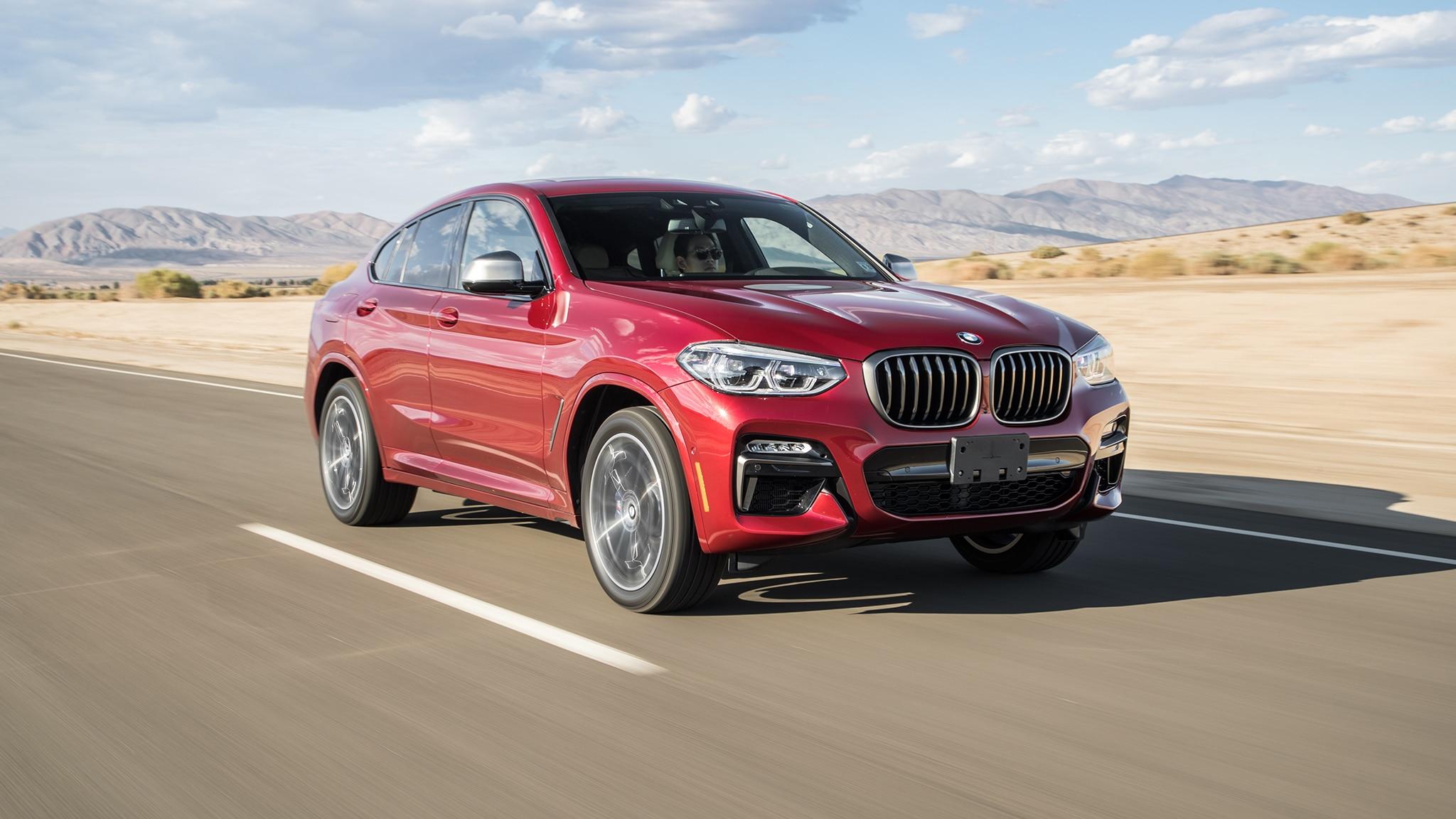 2019 BMW X4 M40i Front Three Quarter In Motion 1