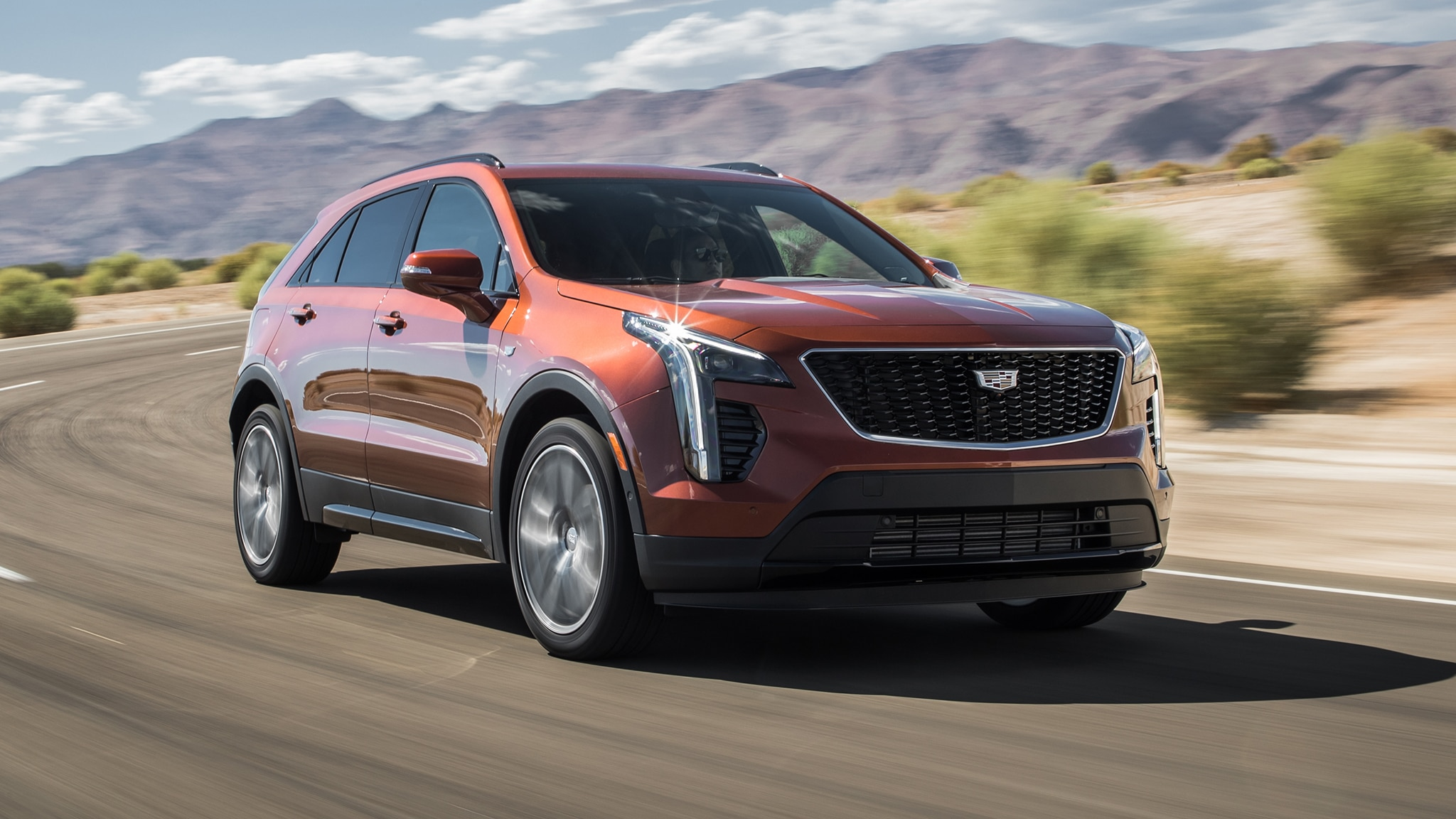 2019 Cadillac XT4 Front Three Quarter In Motion 2