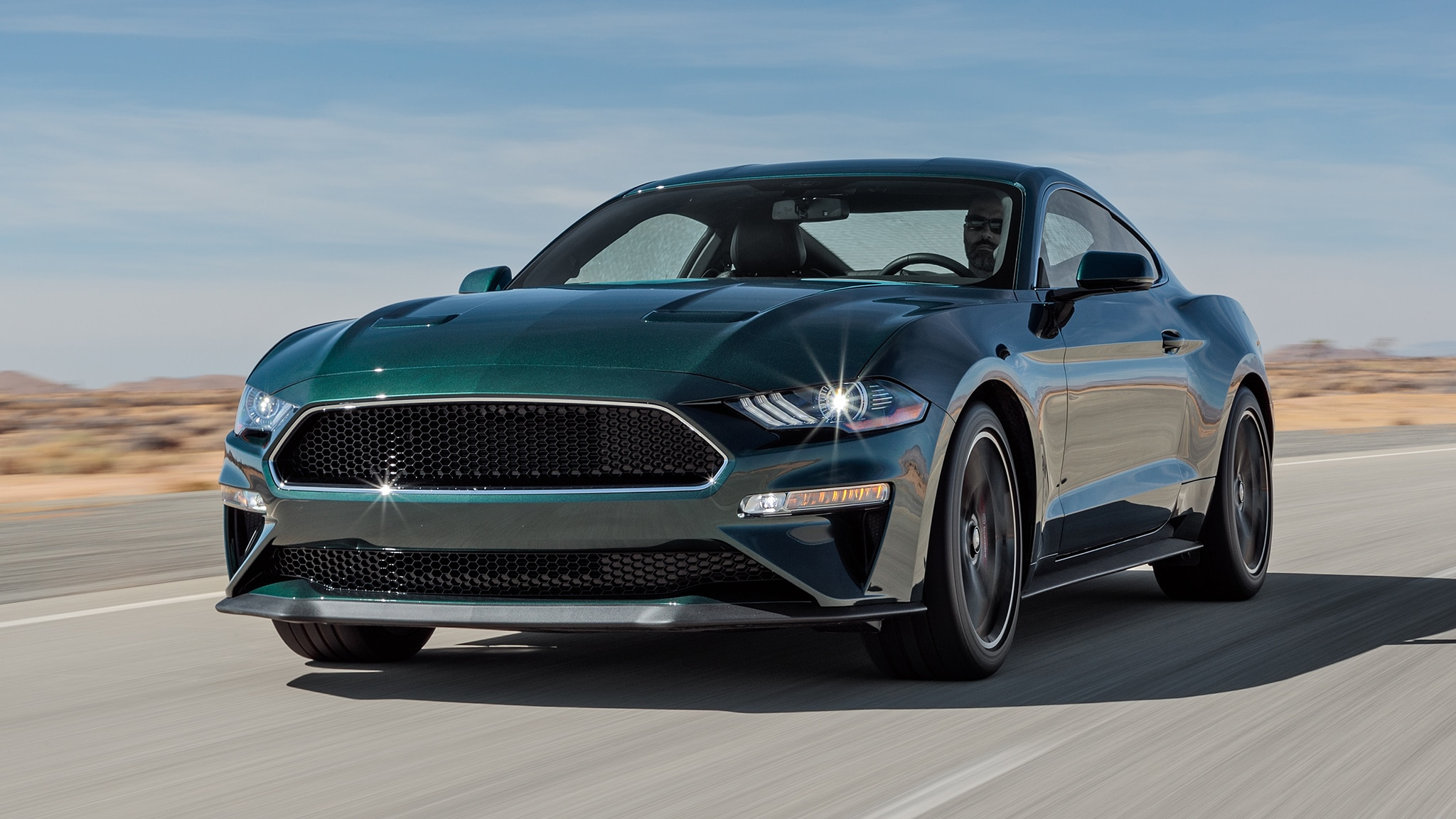 2019 Ford Mustang Bullitt Front Three Quarter In Motion 1