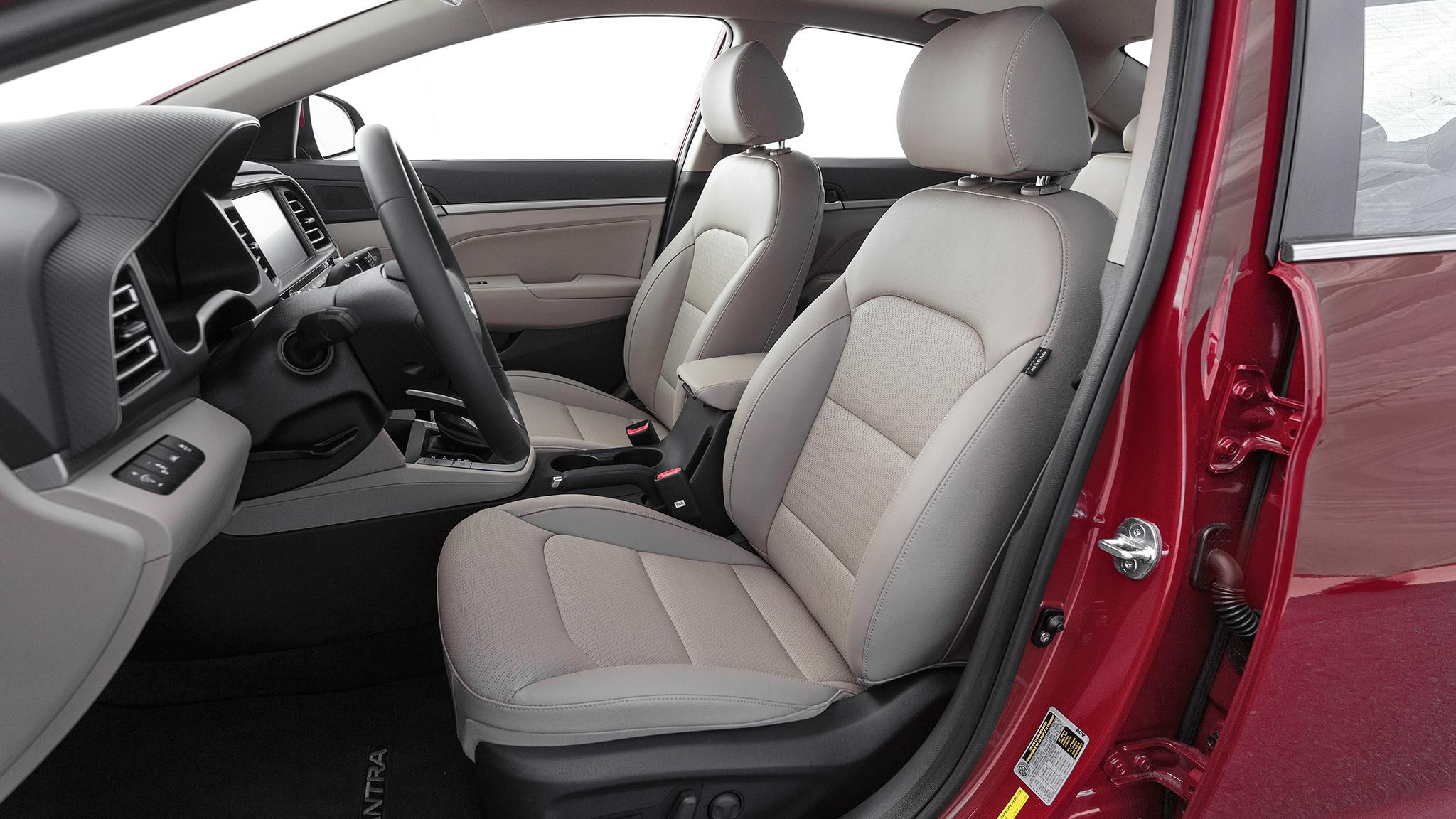 2019 Hyundai Elantra Limited Front Interior Seats Motor Trend En