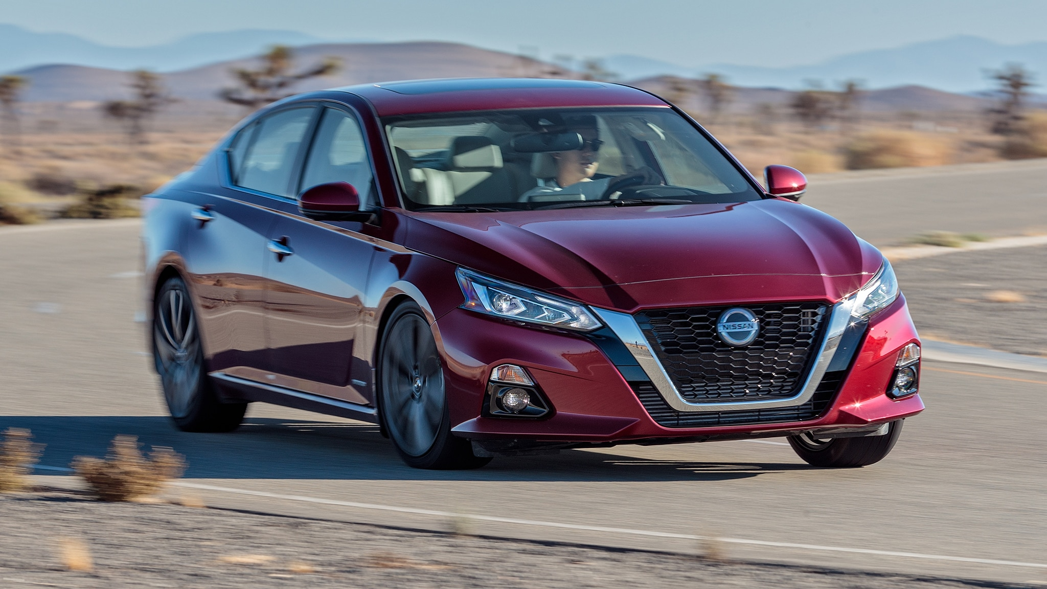 2019 Nissan Altima Platinum VC Turbo Edition One Front Three Quarter In Motion