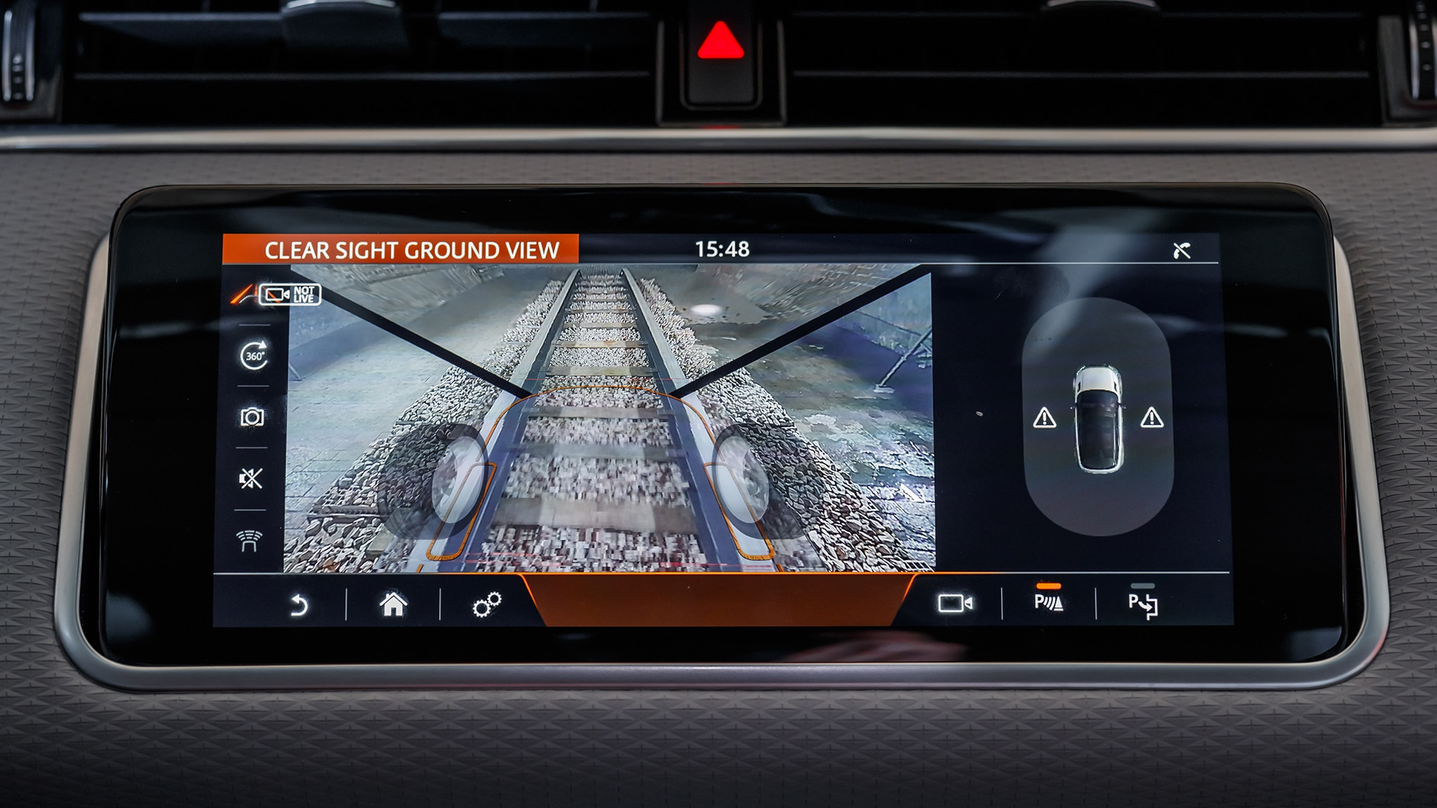 Image result for 2020 range rover evoque clear sight ground view