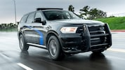 2019 Dodge Durango Pursuit Front Three Quarter In Motion 1