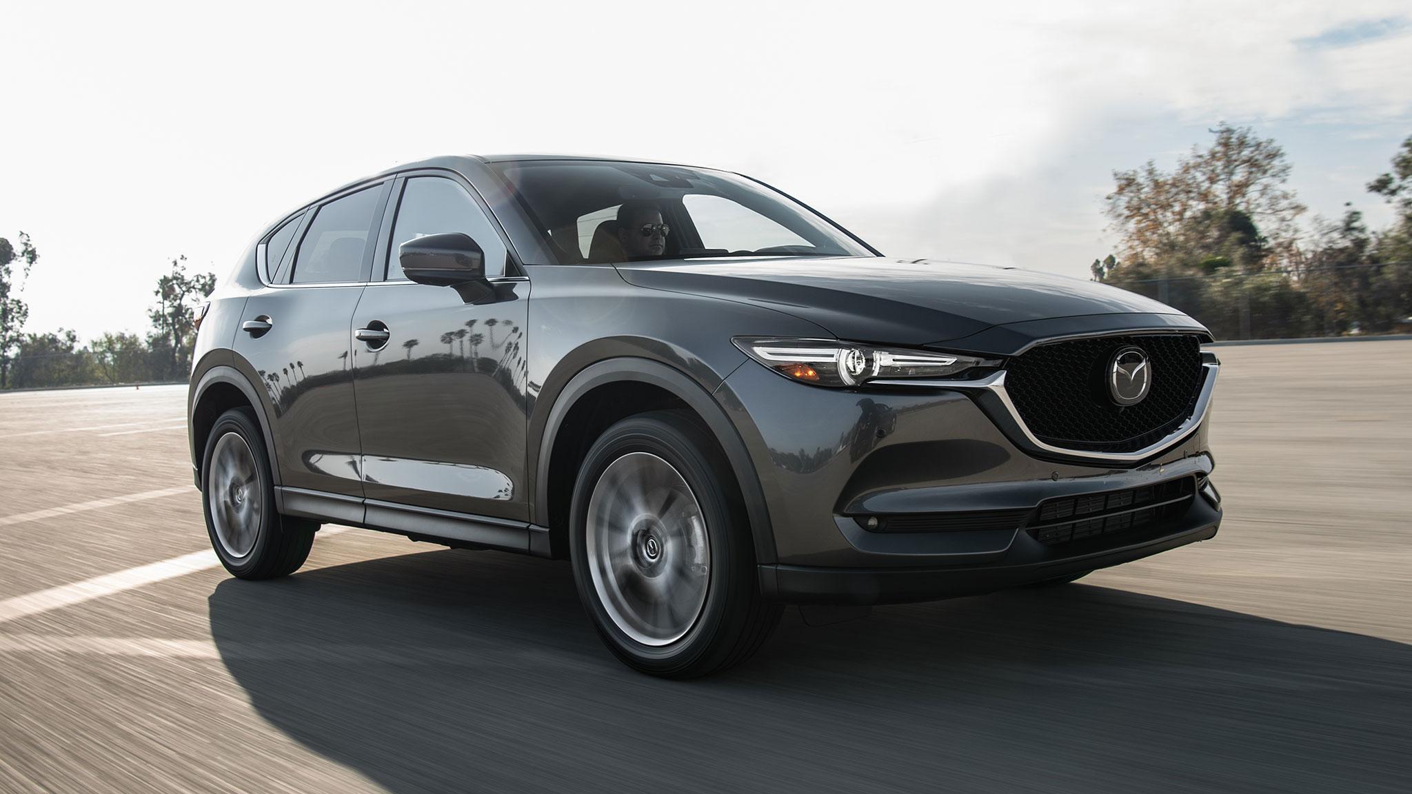 2019 Mazda CX 5 Turbo Front Three Quarter In Motion 1