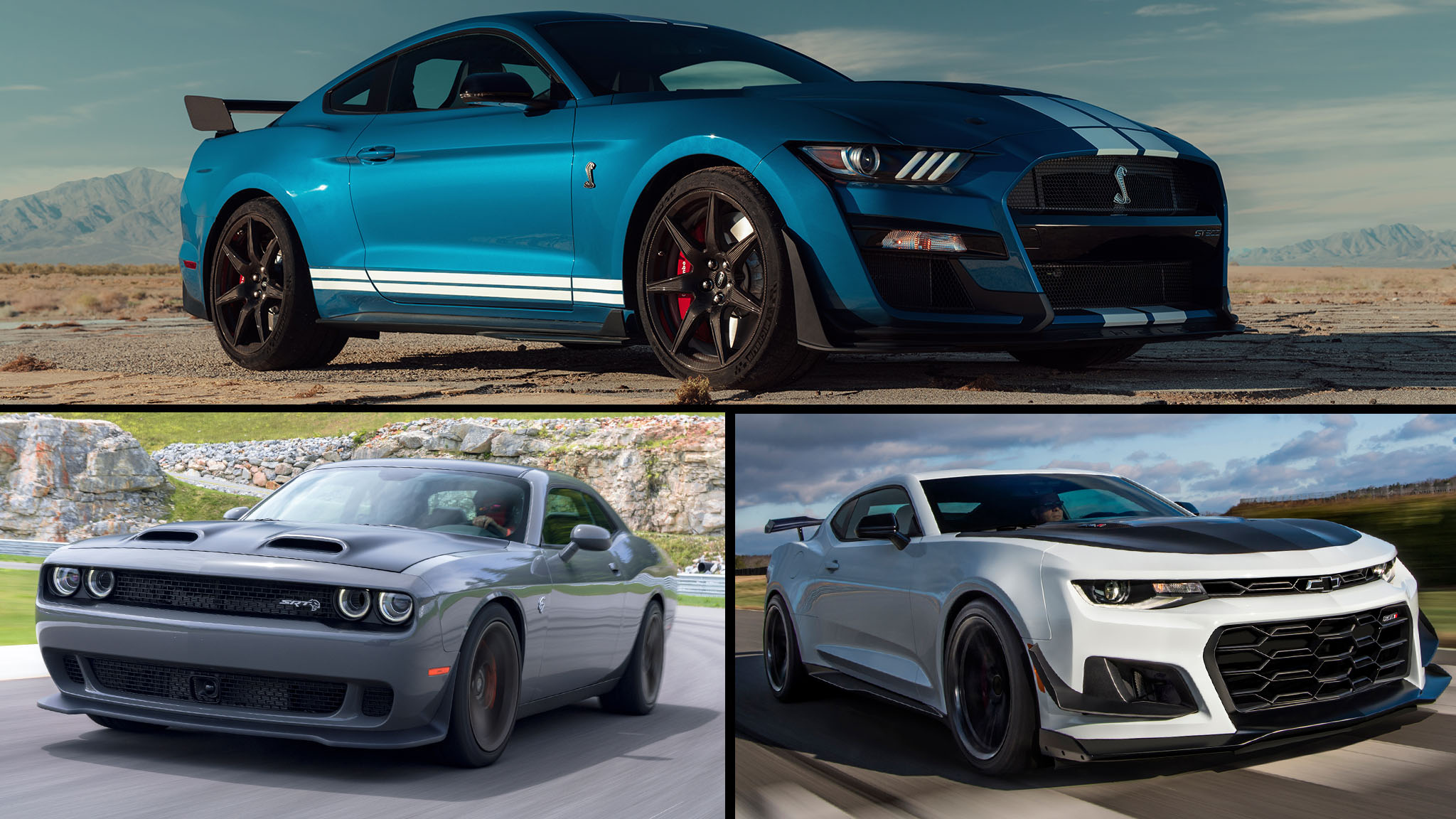 2020 Ford Mustang Shelby GT500 Vs Dodge Challenger SRT Hellcat And Chevrolet Camaro ZL1 1