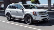 2020 Kia Telluride SX V6 AWD Front Three Quarter In Motion 1