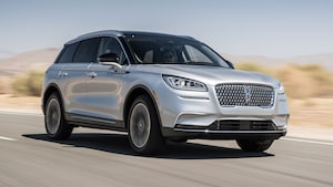 2020 Lincoln Corsair 2 0T AWD Front Three Quarter In Motion 3