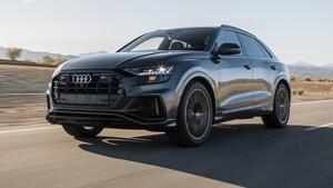 2019 Audi Q8 Prestige Front Three Quarter In Motion 3