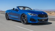 2019 BMW M850i XDrive Convertible Front Three Quarter In Motion