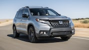 2019 Honda Passport Elite Front Three Quarter In Motion 1