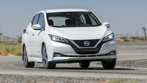 2019 Nissan Leaf Plus SL Front Three Quarter In Motion