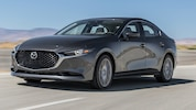 2020 Mazda3 AWD Sedan Front Three Quarter In Motion 1