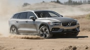 2020 Volvo V60 T5 AWD Cross Country Front Three Quarter In Motion 1